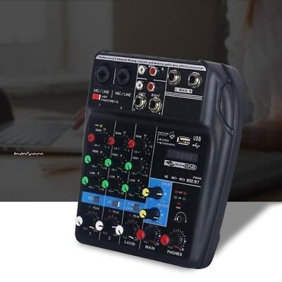 Mini USB Audio Mixer Amplifier Amp Bluetooth Board 48V Phant