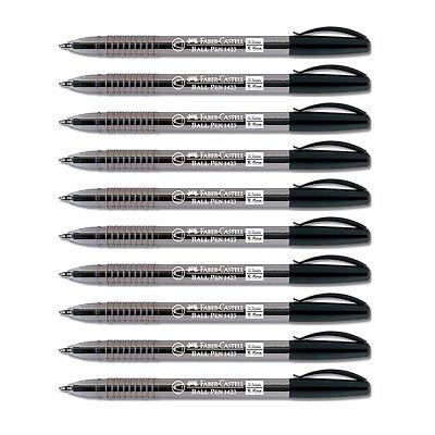 Faber-Castell 1423 Black 0.5mm S-fine Ball Point Pen 10pcs Set