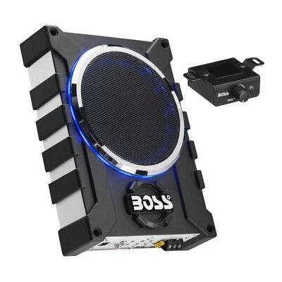 Boss Audio Bass1000 8  1000 Watts Low Profile Amplified Subwoofer With Remote
