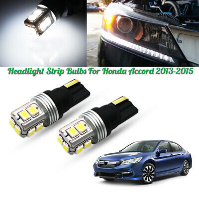 2pc Canbus HID White LED Lights For 2013-2015 Honda Accord Headlight Strip Bulbs - Led Lights Bulk