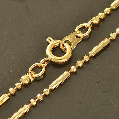 Mens Boys Hip Hop Jewelry Cool 14k Gold Filled Bead Thick