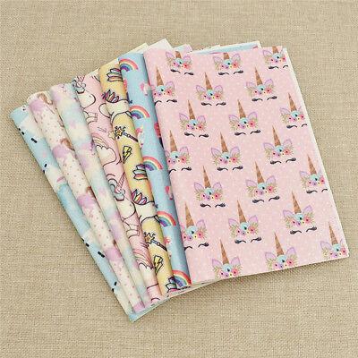 Dekostoff DIY Einhorn Meerjungfrau Kind Mädchen Kleidung Patch Stoffe Nähen Tuch