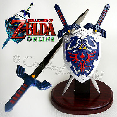 Legend of Zelda Link's Hylian Master Swords & Shield Letter Opener Table Top Set