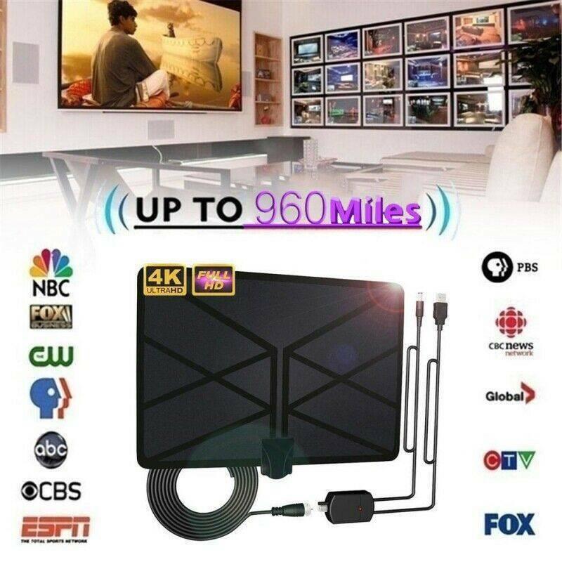 960 Mile Range Antenna TV Digital HD HDTV 1080P Skywire 4K A