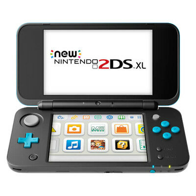 Nintendo 2Ds Xl Black Turquoise Handheld System   Very Good Condition