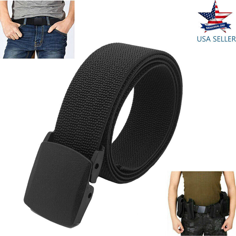 Tactical Belt Buckle Waistband Plastic Cam Nylon Canvas Military Belt For Man