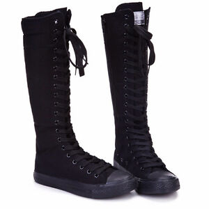 Canvas Lace-Up Boots