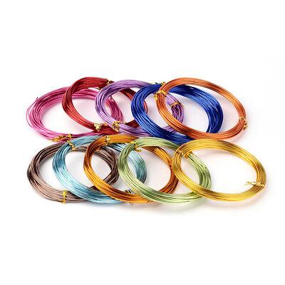 10 Rolls Colorful Aluminum Wires Round Soft Stringing Supplier Wrap Bulk 1.5mm for sale  Shipping to Canada