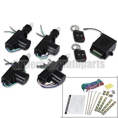 Car Central 12V Power Door Lock / Unlock Remote Kit Keyless Entry For 2/3/4 Door