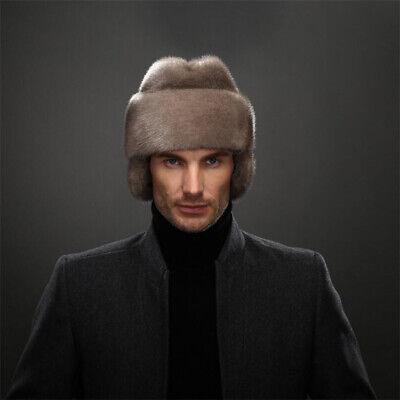 Full-Pelt Nerz Bomber Hüte Winter Hüte mit Ohrenschützer (Hüte Mit Ohren)