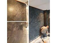 Specialist Venetian Plasterer, Decorator, Painter, Italian Stucco, polished Plaster, Marble walls