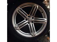 "Audi Q5 q7 a6. 20"" alloy wheels x4 genuine audi"