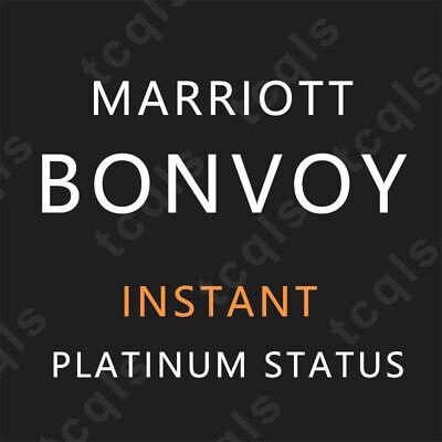 Instant Marriott Bonvoy Platinum Status & Challenge Valid up to 2 years