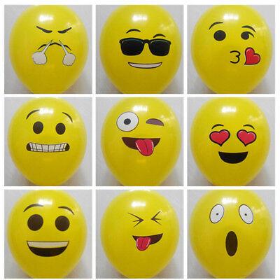 Face Balloons (10pcs Cute Emoji Face Balloons Festival Wedding Birthday Party Xmas)