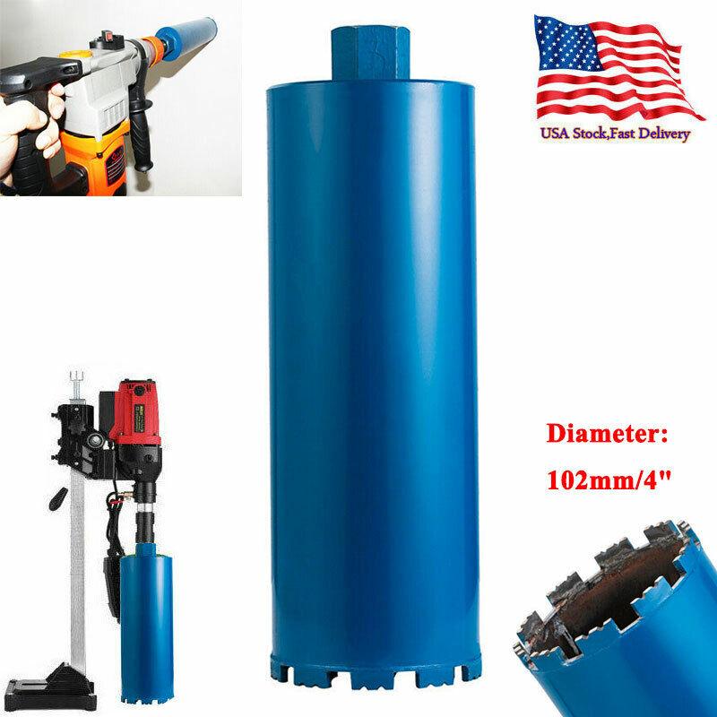 """4"""" Premium WET Diamond Core Drill Bit Core Bore Can Concrete Hard Material Blue"""