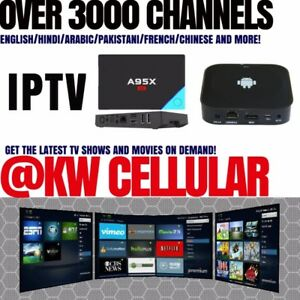 IPTV/Android TV Nex Box A95X A2. Get over 3000 Channels!