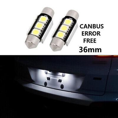 2 Birnen LED Beleuchtung -leuchten Kennzeichen für Audi A3 A4 A5 A6 A8 Q3 Q5 Tt
