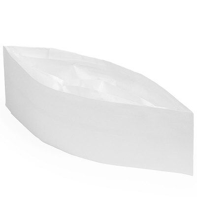 10 Ct. White Paper Overseas Cap - Soda Jerk Ice Cream Parlor Costume Hat Plain
