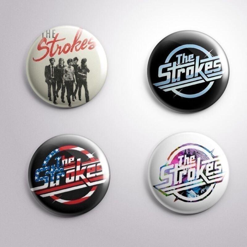 4 THE STROKES - Pinbacks Badge Button Pin 25mm 1