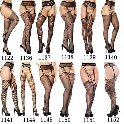 Women Sexy Lingerie Fishnet Garter Thigh Stockings Tights Pantyhose Stripper US Fishnet Stockings Tights