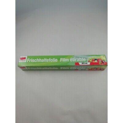 2 X Rouleau de Film Papier étirable Alimentaire Plastique Transparent 20m x...