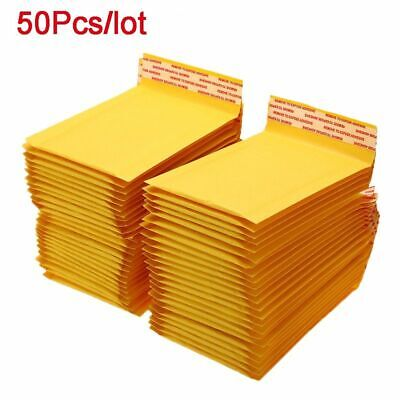 50pcslot Kraft Padded Bubble Mailer Envelopes Shipping Bags Seal Any Size