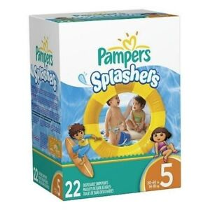 22 Couches piscine Pampers Splashers #5 Swim Diapers (Neuf / New