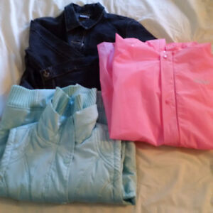 LOT OF GIRLS SIZE L/XL JACKETS; 3 IN TOTAL Sarnia Sarnia Area image 1