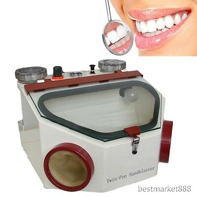 Dental Equipment Double Pen Fine Sandblaster Unit Fda