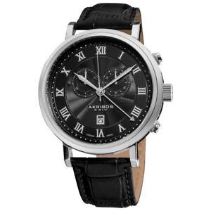 NEW Akribos XXIV AK591 Men's Swiss Chrono Stainless Steel Watch