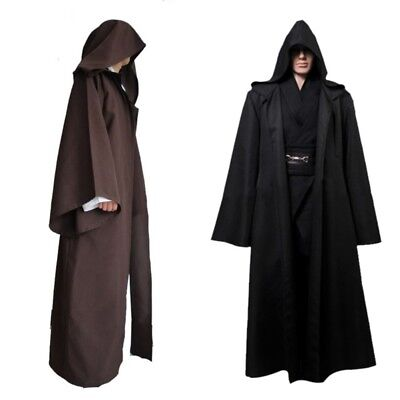Knight Hooded Cloak Jedi Sith Cosplay Robe Cape Party Costume Clothes Dress Prop - Sith Robe Costume