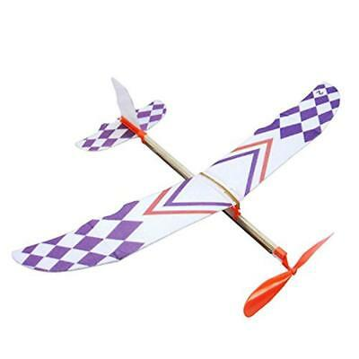 Cool DIY Rubber Band Elastic Powered Glider Flying Plane Airplane Kids Toy -