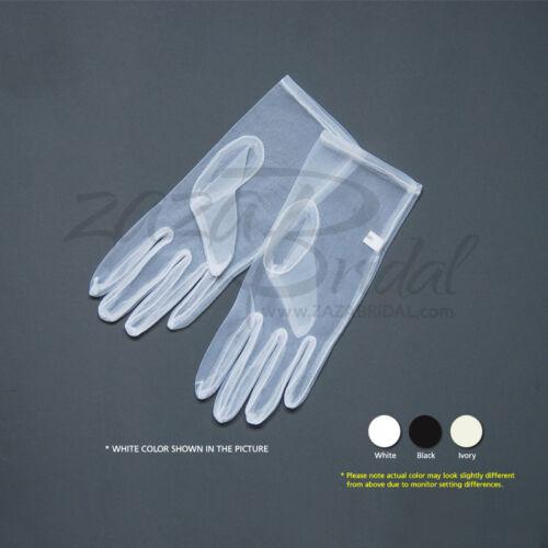 Gorgeous Sheer Gloves Slip-on - Wrist Length, Chiffon textured feeling
