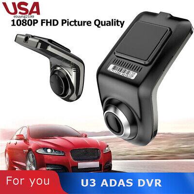 1080P FHD Car DVR Camera Auto Video Recorder GPS 360° ADAS G-sensor Dash Cam US#