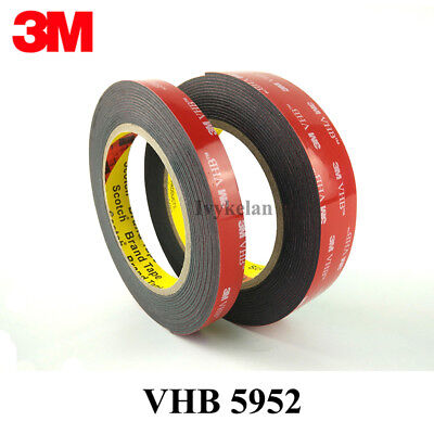 3M VHB 5952 black Double-sided Acrylic Foam Tape Automotive length 3 Meter (Roll 3 Meter Vhb Double Sided Tape