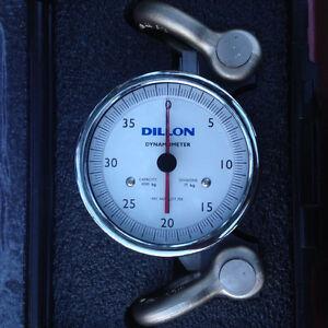 Dillon Dynamometer 5in Dyna 4000kg Pulltester, Tension gauge