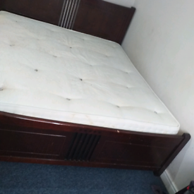 Super king size bed with matress