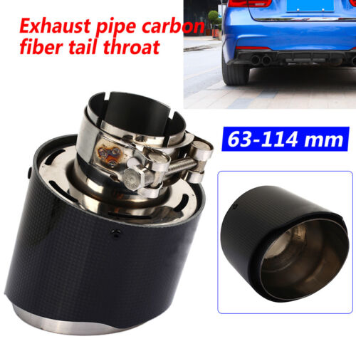 63mm inlet 114mm outlet AKRAPOVIC Exhaust Tip Muffler Pipe Carbon Fiber Tips HOT