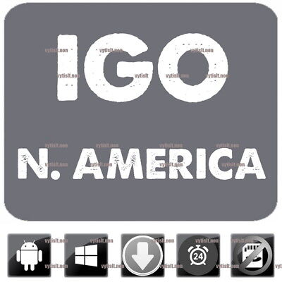 iGO9 Primo GPS Navigation Latest N. America Maps 2017 Windows CE, Android update
