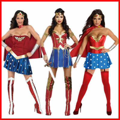 Wonder Woman Dress Up (Wonder Woman Movie Superhero Hero Fancy Dress Up Halloween Cosplay)