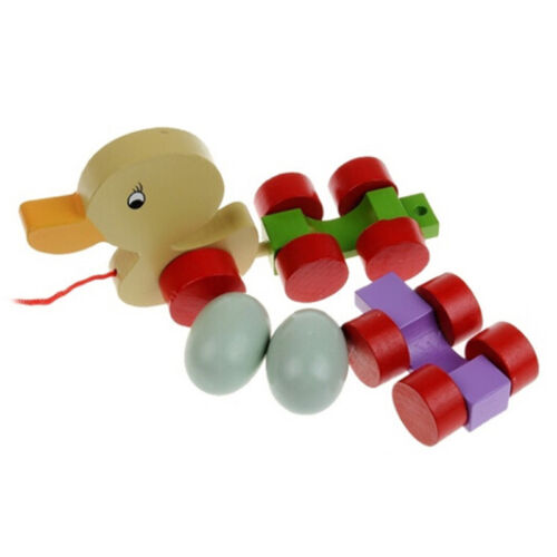 Adorable Wooden Push & Pull Along Toy Bundle For Baby & Todd
