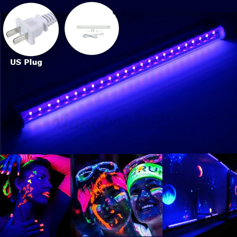 30cm Black Light Bar UV LED 395nm Blacklight Party Club Halloween Decor 110V