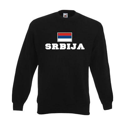 Sweatshirt SERBIEN (Srbija), Flagshirt, Fanshirt Pullover Fan Pulli  (WMS02-57c)