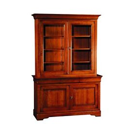 As New Grange Louis Philipe China Cabinet in solid cherrywood