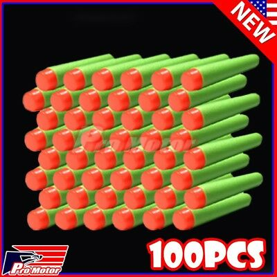 Green 7.3cm 100PCS Refill Bullet Darts for Nerf toy Gun N-strike Elite Series