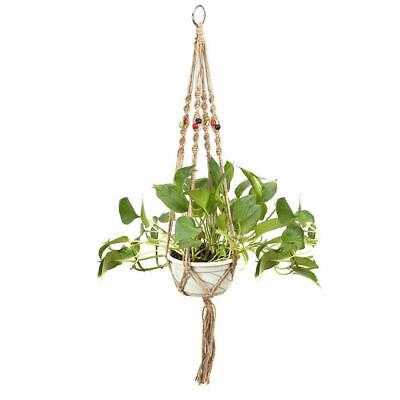 Diy Plant Hanger (US 2Pcs Plant Hanger Macrame Jute Indoor Outdoor Ceiling Balcony Round Pots)