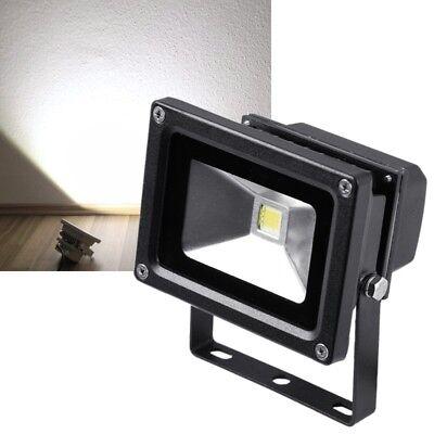 10W LED Flutlicht-Strahler Fluter schwarz IP65 230 V Außen-Strahler Scheinwerfer (Schwarz Licht Scheinwerfer)