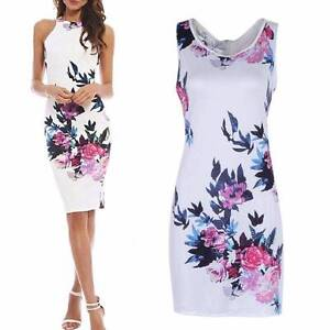 NEW Summer Women Floral Sleeveless Party Evening Cocktail Dress Baldivis Rockingham Area Preview