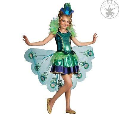 RUB 2887098 Peacock Pfau Kleid mit Scherpe + Hut Kinder Mädchen Kostüm Karneval