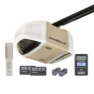 Chamberlain 3/4HP Whisper Belt Garage Door Opener Battery Backup